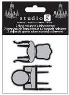 Hampton Arts - Cling Stamp Set - Seating