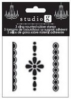 Hampton Arts - Cling Stamp Set - 3 Borders