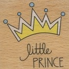 Hampton Art - Studio G - Wood Mounted Stamp - Little Prince Crown