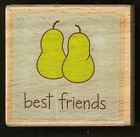 Hampton Art - Studio G - Wood Mounted Stamp - Best Friends