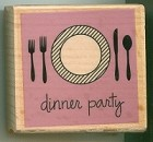Hampton Art - Studio G - Wood Mounted Stamp - Dinner Party