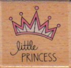 Hampton Art - Studio G - Wood Mounted Stamp - Little Princess Crown