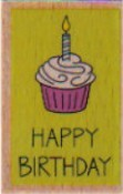 Hampton Art - Studio G - Wood Mounted Stamp - Happy Birthday