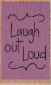 Hampton Art - Studio G - Wood Mounted Stamp - Laugh Out Loud