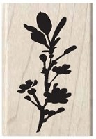 Hampton Arts - Studio G - Wood Mounted Stamp - Flower