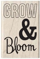 Hampton Arts - Studio G - Wood Mounted Stamp - Grow & Bloom