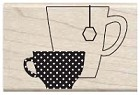 Hampton Art - Studio G - Wood Mounted Stamp - Cup of Tea
