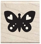 Hampton Arts - Studio G - Wood Mounted Stamp - Butterfly Heart