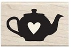 Hampton Arts - Studio G - Wood Mounted Stamp - Heart Tea Pot