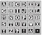 Hampton Arts - Studio G - Wood Mounted Stamp Set - Alphabet 3