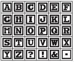 Hampton Arts - Studio G - Wood Mounted Stamp Set - Alphabet 4