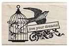 Hampton Arts - Studio G - Wood Mounted Stamp - Live Your Dreams