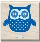 Hampton Arts - Studio G - Wood Mounted Stamp - Owl