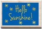 Hampton Arts - Studio G - Wood Mounted Stamp - Hello Sunshine!
