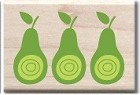 Hampton Arts - Studio G - Wood Mounted Stamp - 3 Pears