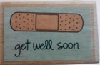 Hampton Art - Studio G - Wood Mounted Stamp - Get Well Soon