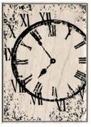 Hampton Arts - 7 Gypsies - Wood Mounted Stamp - Distressed Clock