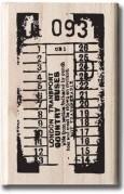 Hampton Art - 7 Gypsies - Wood Mounted Stamp - Ticket Stub