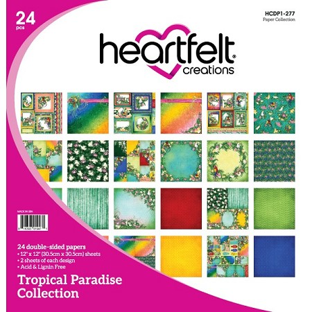 "Heartfelt Creations - 12""x12"" Paper Pad - Tropical Paradise Paper Collection"
