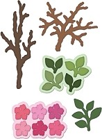 Heartfelt Creations - Cutting Die - Birds and Blooms Collection - Leafy Branch