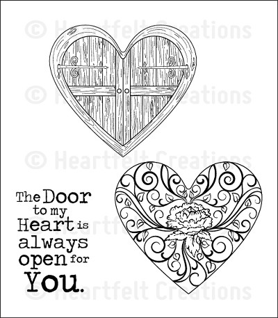 Heartfelt Creations - Cling Stamp - Passage to my Heart PreCut Set