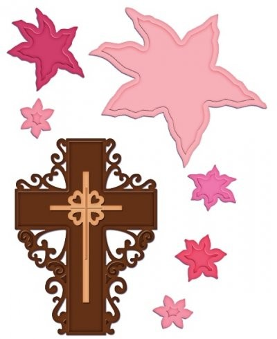 Heartfelt Creations-Cutting Die- Cross & Lilies