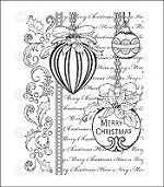 Heartfelt Creations - Cling Stamp Set - Festive Christmas Ornaments