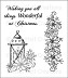 Heartfelt Creations - Cling Stamp Set - Festive Christmas Festive Candlelight