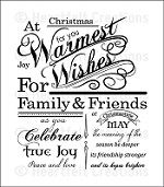 Heartfelt Creations - Cling Stamp Set - Festive Christmas Background