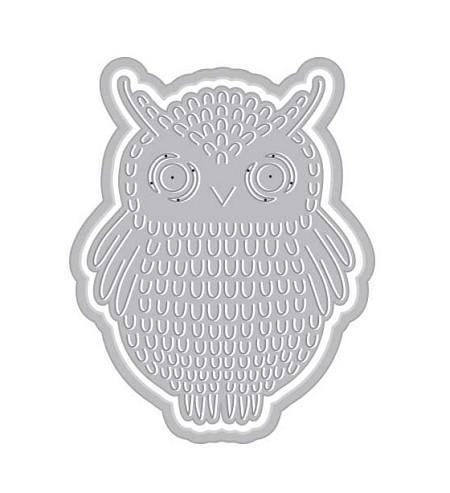 Hero Arts - Fancy Die - Paper Layering Owl with Frame Fancy Die