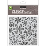 Hero Arts - Cling Rubber Stamp - Hand Drawn Snowflakes Bold Prints