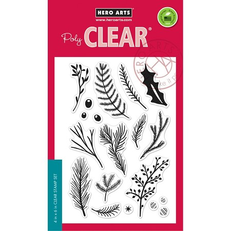 Hero Arts - Clear Stamp - Holiday Pine Branch