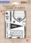 Hero Arts-Clear Stamp Set(for Basic Grey)-Oxford-Brilliant!