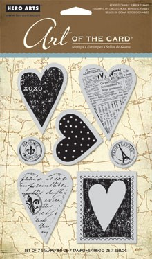 Hero Arts Cling Stamp Set - Untitled Hearts
