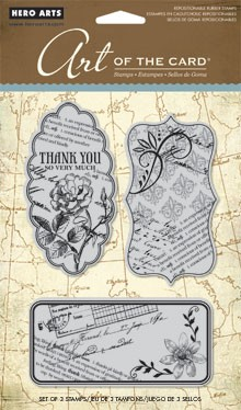 Hero Arts Cling Stamp Set - Le Journal