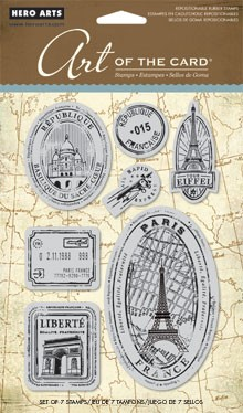 Hero Arts Cling Stamp Set - Paris France