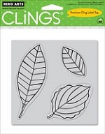 Hero Arts Cling Stamp Set - Three Leaves