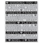 Hero Arts Cling Stamp for Basic Gray-Nordic Holiday-Stitched Greetings