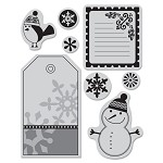 Hero Arts Cling Stamp for Basic Gray-Nordic Holiday-Smiling Snowman