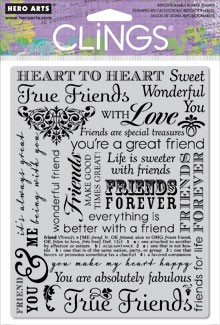 Hero Arts Cling Stamp - True Friends