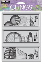 Hero Arts Cling Stamp Set - Flying Airships