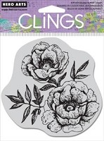 Hero Arts Cling Stamp - Etched Flowers