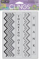 Hero Arts - Cling Rubber Stamp - Zig Zag Thanks