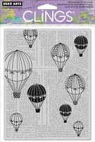 Hero Arts - Cling Rubber Stamp - Balloon Ride
