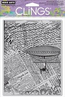 Hero Arts - Cling Rubber Stamp - Fly Away Newsprint