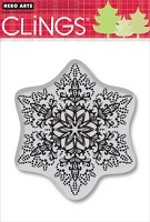 Hero Arts - Cling Stamp - Dotted Snowflake