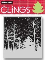 Hero Arts - Cling Stamp - Snowy Winter Nights