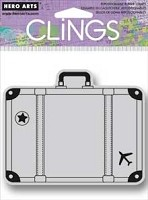 Hero Arts - Cling Rubber Stamp - Big Suitcase
