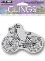 Hero Arts - Cling Rubber Stamp - Bike With Basket