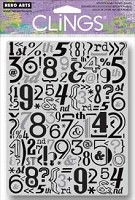 Hero Arts - Cling Rubber Stamp - Number Pattern